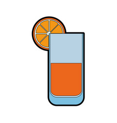 isolated lemonade glass vector image vector image