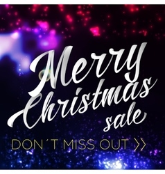 Merry Chrismas Sale Lettering Bright Banner vector image