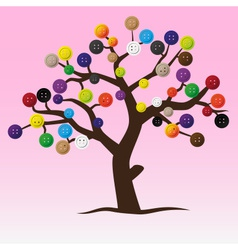 mystic button tree with color buttons for clothing vector image
