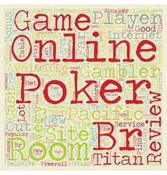 online poker room reviews 1 text background vector image vector image