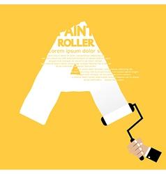 Paint roller alphabet a vector