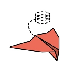 Paper plane style modeling light line dotted vector