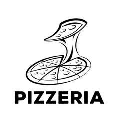 Pizzeria logo vector