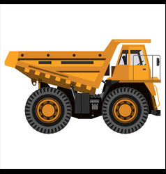 Powerful mining truck vector