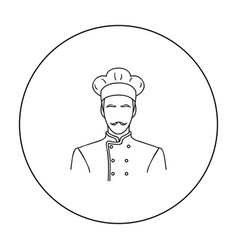 Restaurant chef icon in outline style isolated on vector