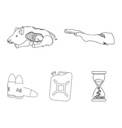Rotten flesh boar and other web icon in outline vector
