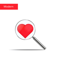 search love heart and vector image