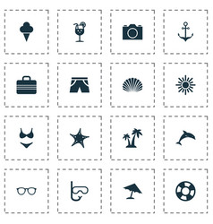 Season icons set collection of sweets smelting vector