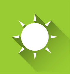 Simple sun icon modern flat style icon vector