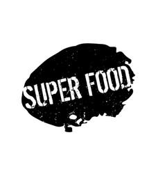 Super food rubber stamp vector