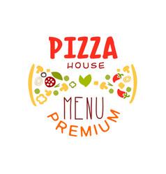 Typography flat pizzeria house logo creative vector