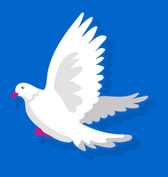 White bird landing vector