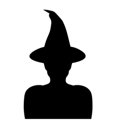 with a silhouette of a witch vector image vector image