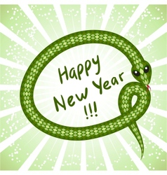 Cute snake symbol of 2013 year vector image
