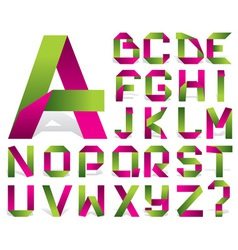 alphabet tape vector image