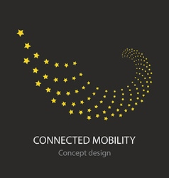 Connected mobility busines icon vector