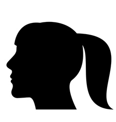 Silhouette of a woman head vector