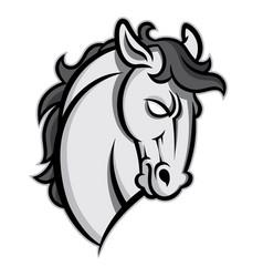 Mustang stallion horse head vector