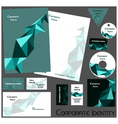 Corporate identity template no14 vector