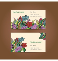 Set of 2 business cards vector image