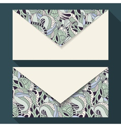 Hand drawn floral business card set vector