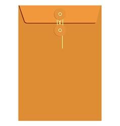 Orange sealed envelope vector image