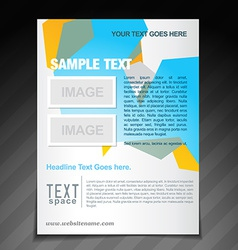 Stylish brochure template vector