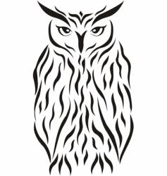 Tribal eagle-owl tattoo vector