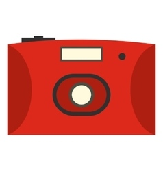 Red camera flat icon vector