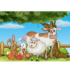 Farm animals in the farm vector image