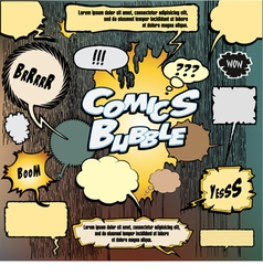 comics bubble set vector image
