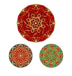 Set of olour decorative design element vector