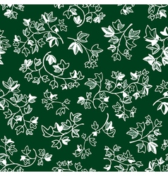 doodle ivy leaves seamless pattern vector image