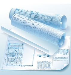 Architectural drawings vector