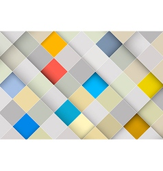 Abstract Square Retro - Modern Background vector image vector image