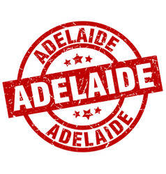 Adelaide red round grunge stamp vector