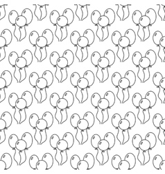 Black and white seamless pattern with balloons for vector image vector image