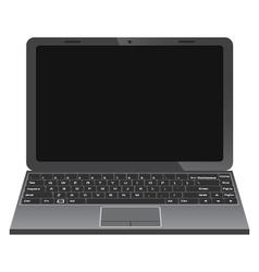 Black laptop vector