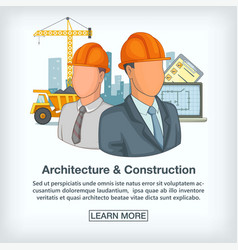 Building process concept team cartoon style vector