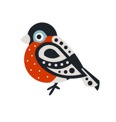 bullfinch bird colorful cartoon character vector image vector image
