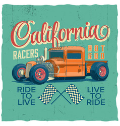 california racers poster vector image