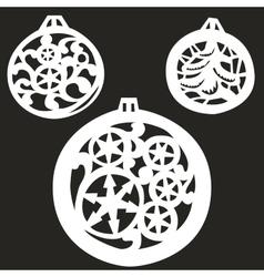 Christmas tree balls vector image vector image
