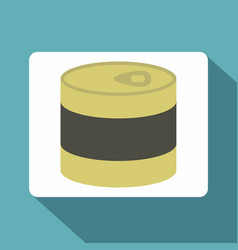 Closed tin can icon flat style vector