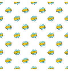 comic boom bang pattern seamless vector image vector image