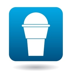 Cup of ice-cream icon simple style vector image vector image