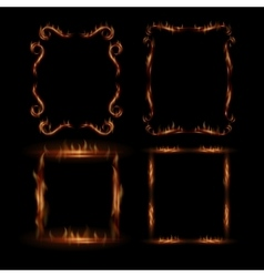 Fire frames vector image vector image