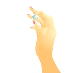 hand and ring vector image vector image