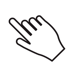 hand pointing with index finger icon vector image vector image