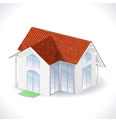 House 3d icon vector image vector image