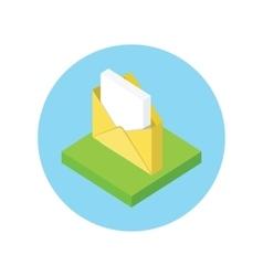 Isometric Envelope Open Design Flat vector image